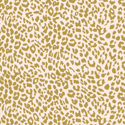 Leopard in Gold Glow on Soft Pink
