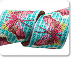 Stripe Butterfly in Turquoise