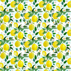 Small Lemons in Spring Breeze Stripes