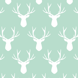 Stag Silhouette in Mint