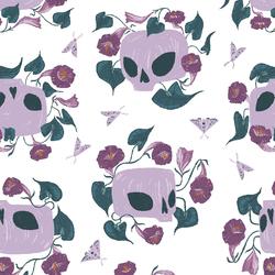 Skulls in White
