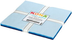 """Kona Solid 10"""" Square Pack in Waterfall"""