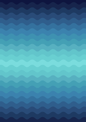 Wave Ombre in Bright Blues