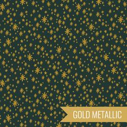 Starry Night in Evergreen Metallic