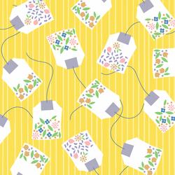 Floral Tea Bags in Lemon