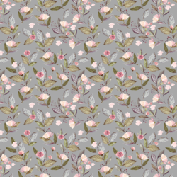 Little Tossed Floral in Grey