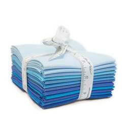 Bella Solids Fat Quarter Bundle in Blue