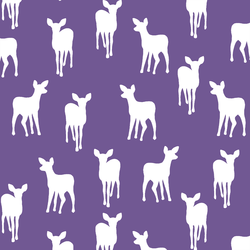 Fawn Silhouette in Ultra Violet