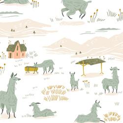 Llama Land in White
