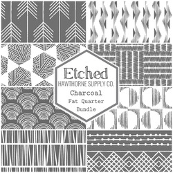 Etched Fat Quarter Bundle in Charcoal