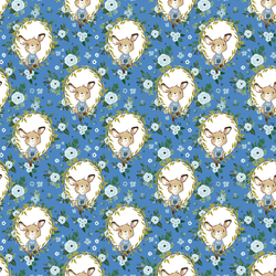 Floral Baby Boy Kangaroo in Bright Blue