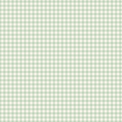 Gingham in Minty Green