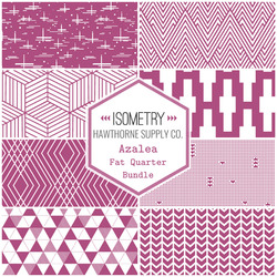 Isometry Fat Quarter Bundle in Azalea
