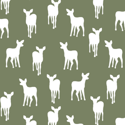 Fawn Silhouette in Olive