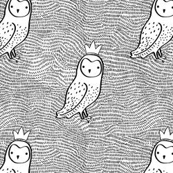 Crowned Owl in Black