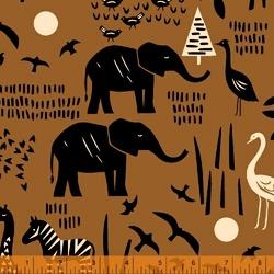 Safari Scene in Sienna