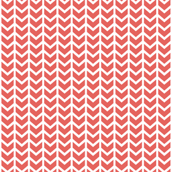Broken Chevron in Salmon