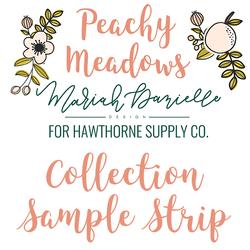 Peachy Meadows Sample Strip