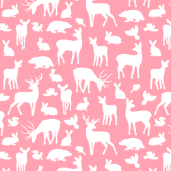 Forest Friends in Rose Pink