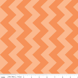 Medium Chevron Tone on Tone in Orange