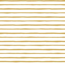 Artisan Stripe in Straw on White