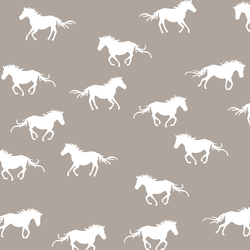 Horse Silhouette in Taupe