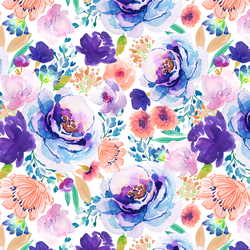 watercolor florals fabric collection by indy bloom at hawthorne