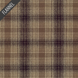 Mammoth Wilderness Plaid Flannel in Chocolate