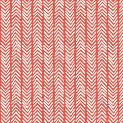 Herringbone Canvas in Warm Red