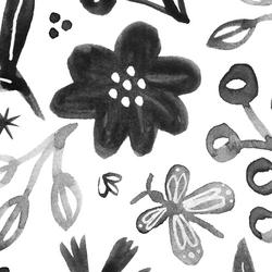 Grand Flutter Floral in Pewter