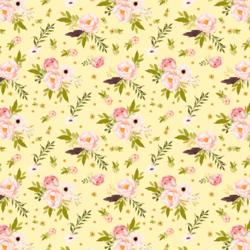 Little Bunny's Garden in Lemon Chiffon