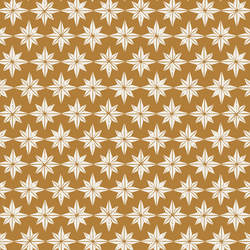 Stars in Cream on Golden Yellow