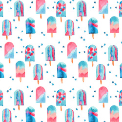 Large Popsicles in White