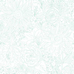 Paperie in Retro Green on White