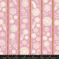 Daisy Stripe in Lavender Unbleached
