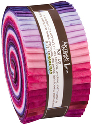 Artisan Batiks Roll Up in Prisma Dyes, Plum Perfect Colorstory