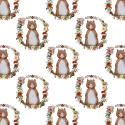 Small Woodland Bear in White