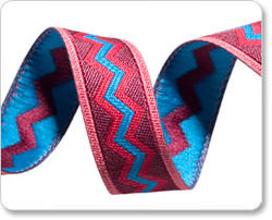 Meander Ribbon in Blue and Red