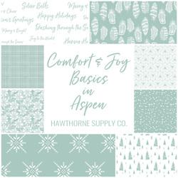 Comfort and Joy Basics Fat Quarter Bundle in Aspen