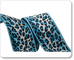 Skinny Ombre Leopard in Blue and Navy