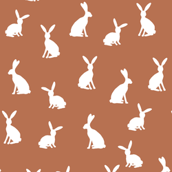 Cottontail Silhouette in Terracotta