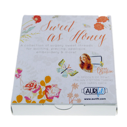 Aurifil Kit in Sweet as Honey Small Spools by Bonnie Christine