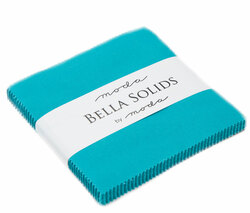 Bella Solids Charm Pack in Turquoise