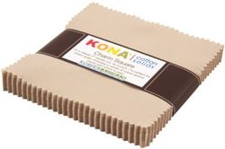 """Kona Solid 5"""" Square Pack in Parchment"""
