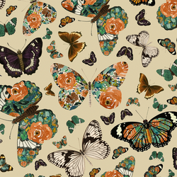 Autumn Butterfly in Soft Taupe