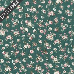 Floral Crinkle in Sage