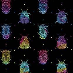 Rainbow Bugs in Black