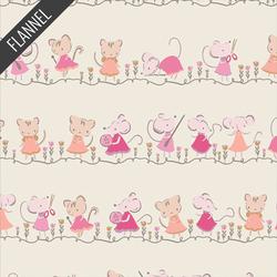 Minikin Friends Flannel in Ecru