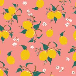 Lemons in Pink Blossom