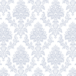 Heirloom Damask in White